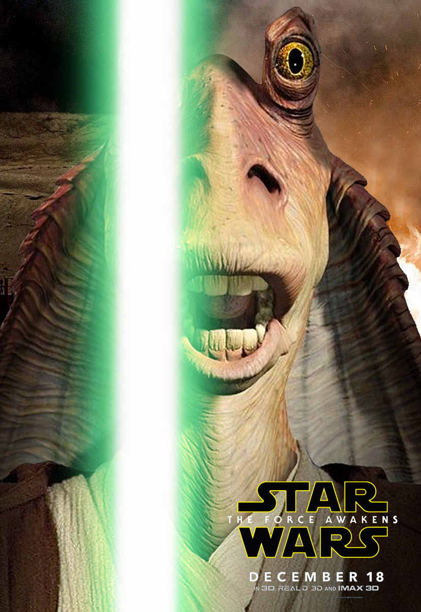 The Force Awakens Jar Jar Binks Charakterposter