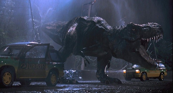 jurassic park t-rex breaks out
