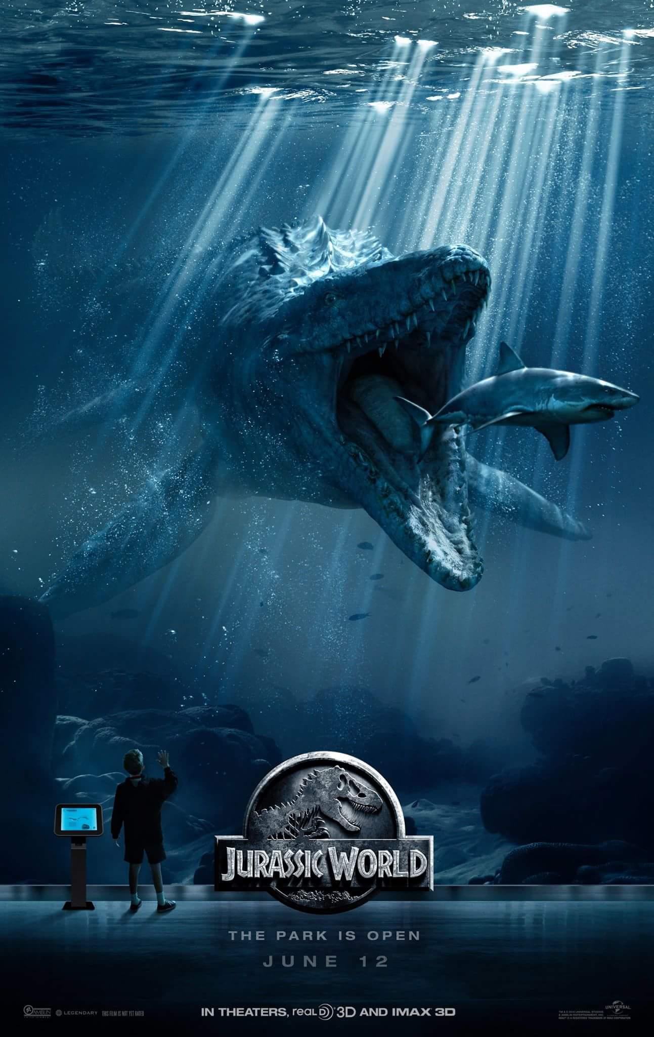jurassic world mosasaurus poster