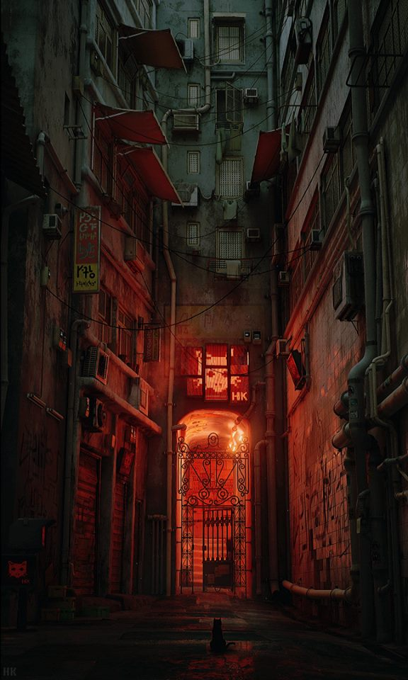 kowloon city cat poster